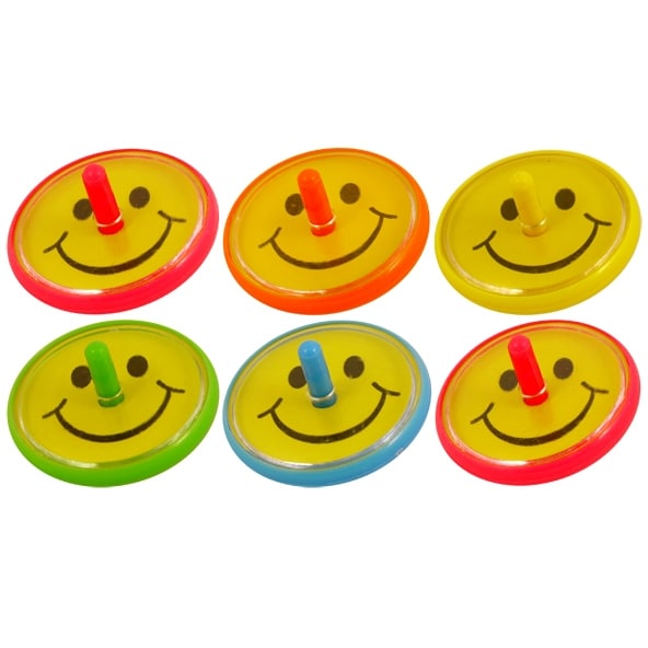 Smile Face, Spin Tops 6-pack