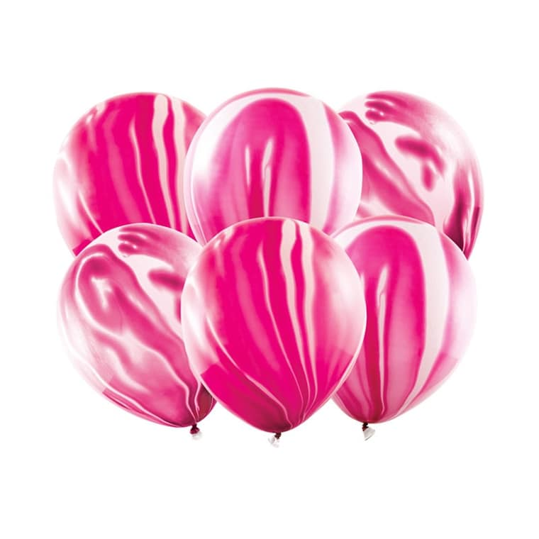Marble Balloons, Rosa 6-pack